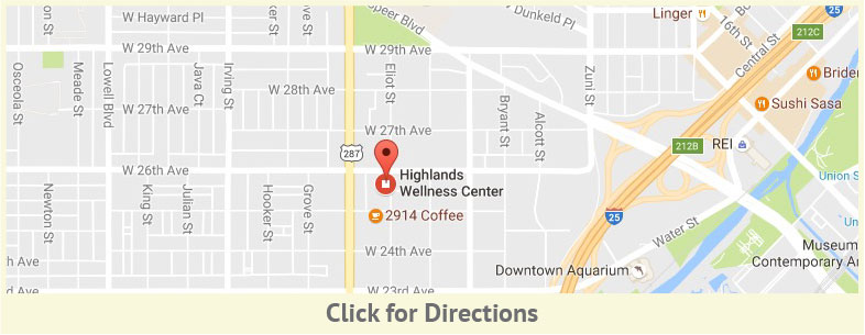 Map to Highlands Wellness Center